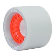 Presto Wide 62mmx44mm/93a Roller Skate Wheels- Grey/Red
