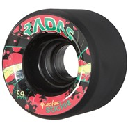Quickie Stickie 59mm/91a Roller Skate Wheels- Black