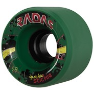 Quickie Stickie 59mm/95a Roller Skate Wheels- Green