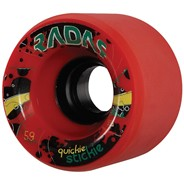 Quickie Stickie 59mm/93a Roller Skate Wheels- Red