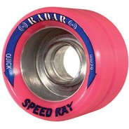 Speed Ray 62mm Roller Skate Wheels- Hot Pink