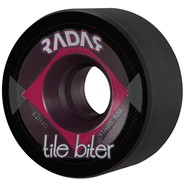 Tile Biter 62mm Roller Skate Wheels- Black