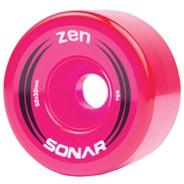 Sonar Zen 62mm/85a Roller Skate Wheels- Pink