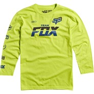 Team Fox L/S Youth T-Shirt - Day Glo Green