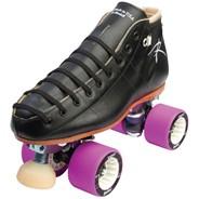 495 Torch Black Quad Roller Skates- Width D/B