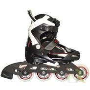 Seba 14 Junior Semi Soft Adjustable Inline Skates - Black