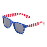 Janelle Hipster Shades - (Dyed Dots & Stripes) Blue/Red VXLIDP