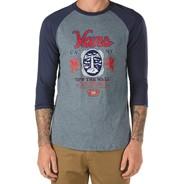 Cold One Raglan S/S T-Shirt - Heather Grey/Navy 5TQ60B