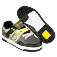 Flow Black/Grey/Yellow Kids Heely Shoe