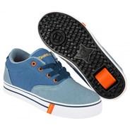 Launch Denim/Light Blue/Orange Heely Shoe