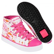 Veloz White/Pink/Flamingos Kids Heely Shoe