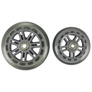 Junior Street 120mm/100mm Scooter Wheels and Bearings- Clear