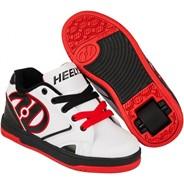 Propel 2.0 White/Black/Red Kids Heely Shoe