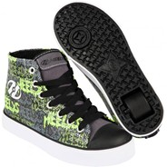 Hustle Black/Grey/Lime/Graffiti Heely Shoe