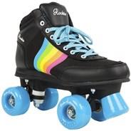 Forever Rainbow Quad Roller Skates - Black/Multi