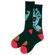 Screaming Hand Socks - Black