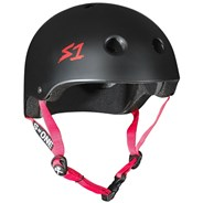 Lifer Helmet - Black Matt with Red Strap