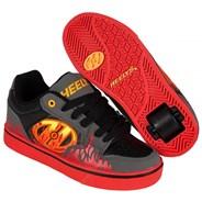 Motion Plus Grey/Black/Flames Kids Heely Shoe