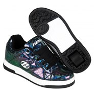 Split Black/Hologram Kids Heely Shoe