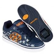 Motion Plus Navy/Grey/Orange Kids Heely Shoe