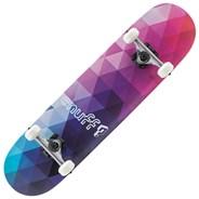 Geometric Purple 8inch Complete Skateboard