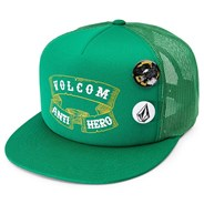 Pin Patron Anti Hero Mesh Cap - Dark Kelly Green