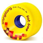 Fat Free Freeride Longboard Wheels - Yellow
