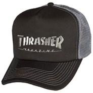 Logo Embroidered Mesh Cap - Black/Grey