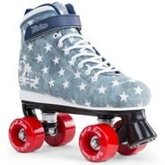Vision Canvas Kids Quad Roller Skates - Blue Jeans