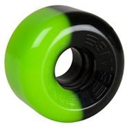 Street Snakes 2 tone 62mm Roller Skate Wheels - Green/Black