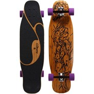 Poke Complete Longboard with Orangutang Fat Free Wheels