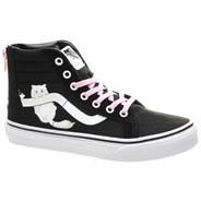 SK8 Hi Zip (Hidden Kittens) Black/True White Kids Shoe VA3276MLR