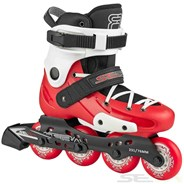 16 FR Junior Adjustable Inline Skates - Red