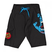 Screaming Hand Boardshorts - Black with Red Dot