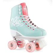 Script Quad Roller Skates - Teal/Coral