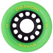 Sonar Demon EDM 62mm Roller Skate Wheels - Green