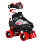 Ace Junior Children's Quad Adjustable Roller Skates - Black/Red