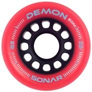 Sonar Demon EDM 62mm Roller Skate Wheels - Red