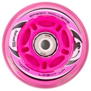 Pink Inline Light Up Wheels, 64, 70, 72mm