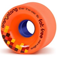 Fat Free Freeride Longboard Wheels - Orange
