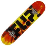 Team Odyssey Logo Tie Dye Red 7.75 inch Complete Skateboard