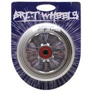 Ultra Light 100mm Aluminium Hub Scooter Wheel with Bearing - Silver