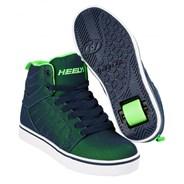 Uptown Navy/Lime Super Mesh Kids Heely Shoe