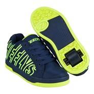 Split Navy/Bright Yellow Kids Heely Shoe
