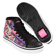 Veloz Black/White/Pink/Comic Kids Heely Shoe
