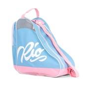 Script Ice/Roller Skate Carry Bag - Blue/Pink