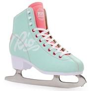 Script Ice Skates - Teal/Coral