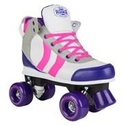 Deluxe Pink/Grey/Purple Quad Roller Skates