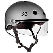 Lifer Helmet inc Visor - Silver Glitter