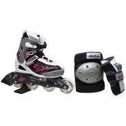 Bladerunner Phaser G Combo Girls Recreational Inline Skate - Black/Pink